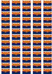 Arizona Flag Stickers - 65 per sheet